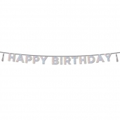 Talking Tables banner Happy Birthday iridescent glitter, 3,5 m