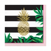 Lunsjservietter Pineapple Wedding, 16 stk.