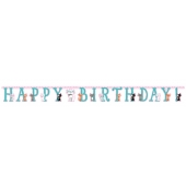 Banner Happy Birthday Purr-Fect, 3 m