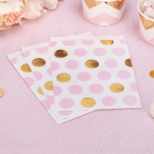 Godteposer Pattern Works Pink Dots, 25 stk.