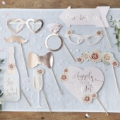 Photo booth til bryllup Happily Ever After - Beautiful Botanics, 10 stk.