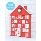 Adventskalender av tre Christmas House