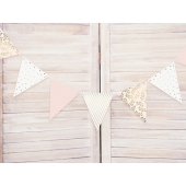 Flaggbanner Pastel & Gold, 2,1 m
