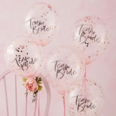 Ballonger Team Bride - Floral Hen party, 5 stk.