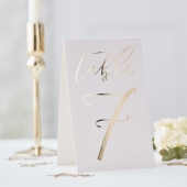 Bordnummer Gold Wedding 1-12