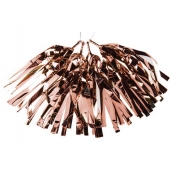 Tassel av folie Rose Gold, 5 stk.