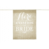 Banner til brudepike Here Comes the Bride