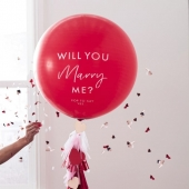 Stor ballong til frieri Will You Marry Me? - Hey Good Looking