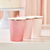 Pappkopper Ombre rosa - Mix It Up, 8 stk.