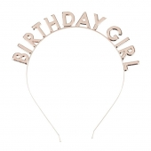 Hodebøyle Birthday Girl rose gold