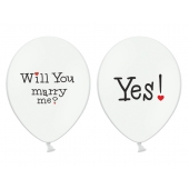Ballonger Will you marry me? - Yes!, 5 stk.