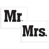 "Skostikkers ""Mr & Mrs"", 2 stk."