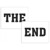 "Skostikkers ""The End"", 2 stk."