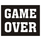 "Skostikkers ""Game Over"", 2 stk."