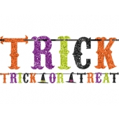 Banner til halloween Trick or Treat