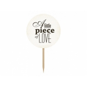 Cupcake toppers Sweet Love, 6 stk.