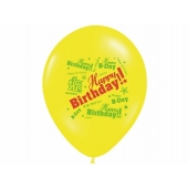 Ballonger Happy Birthday modern mix, 5 stk.