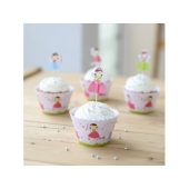 Cupcake wrappers og toppers Cute Fairies, 12 stk.