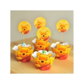 Cupcake wrappers og toppers Winnie The Pooh, 12 stk.