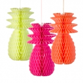 Talking Tables honeycombs Fluorescent Pineapples, 3 stk.