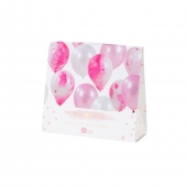 Talking Tables ballonger We Love Pink Marble, 12 stk.