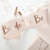 Ordensbånd Bride To Be Pink & Rose Team Bride