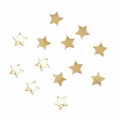 Konfetti Metallic Star gull