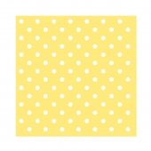 Servietter Dots Yellow, 20 stk.