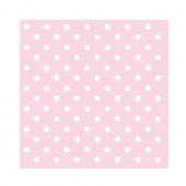 Servietter Pastel Dots Rose, 20 stk.