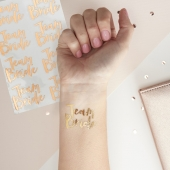 Ginger Ray Temporary Tattoos - Team Bride rose gold, 16 stk.