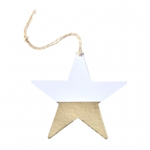 Ginger Ray etiketter Gold Dipped Star, 6 stk.