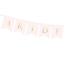 Flaggbanner Bride & Groom rosa, 1,55 m