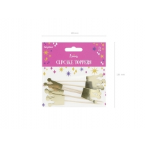 Cupcake toppers Princess Crown gull, 6 stk.