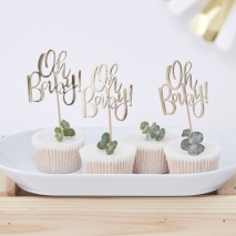 Cupcake toppers Oh Baby!, 12 stk.