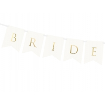 Flaggbanner Bride & Groom hvit, 1,55 m