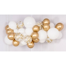 Ballongsky White & Gold, DIY kit