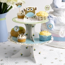 Muffinsstativ Little Owls blå