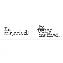 "Tavler ""I'm married"" / ""I'm very married"", 2 stk."