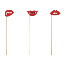Party props Lips, 3 stk.