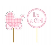Cupcake toppers It's a Girl, 12 stk.