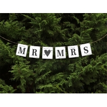 Bryllupsbanner Mr. & Mrs. Shabby Chic