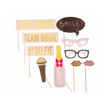 Ginger Ray photo booth til bryllup Pastel Perfection, sett 10 stk.