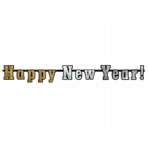 """Holografisk banner """"Happy New Year!"""""""