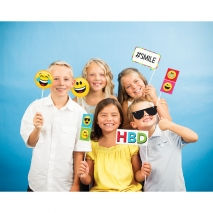Photo booth props Show Your Emojions, sett 10 stk.