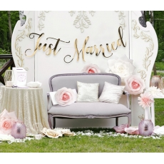Banner Just Married Gold, 2,25 m