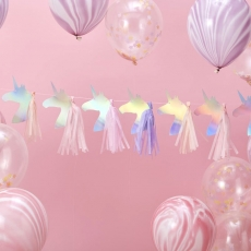 Girlander Unicorn m/tassels - Make a Wish, 1,5 m