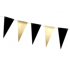 Flaggbanner Black & Gold, 2,15 m