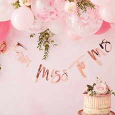 Banner Miss to Mrs Floral Hen, 1,7 m