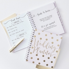 Planleggingsbok til bryllup (wedding planner) Gold Wedding