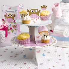 Muffinsstativ Little Owls rosa